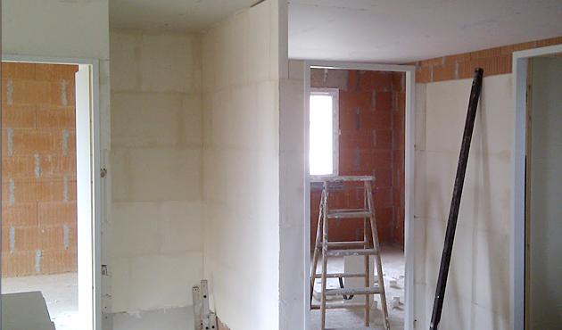 Renovation cloisons carreaux de platre
